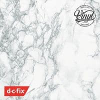 135cm Wide White/Grey Marble Sticky Back Vinyl (200-7990) from 1m to 30m